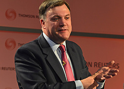 © Licensed to London News Pictures. 03/06/2013. London, UK Ed Balls MP, Labour's Shadow Chancellor, makes a speech on the UK economy at Reuters,  this Monday 3 June.. Photo credit : Stephen Simpson/LNP