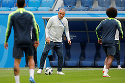 June 21, 2018 - Saint Petersburg, Russia - Brazil national team head coach Tite (C) during a Brazil national team training session during the FIFA World Cup 2018 on June 21, 2018 at Saint Petersburg Stadium in Saint Petersburg, Russia. (Credit Image: © Mike Kireev/NurPhoto via ZUMA Press)