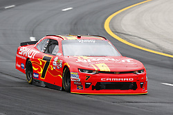 July 14, 2017 - Loudon, NH, United States of America - July 14, 2017 - Loudon, NH, USA: Justin Allgaier (7) takes to the track to practice for the Overton's 200 at New Hampshire Motor Speedway in Loudon, NH. (Credit Image: © Justin R. Noe Asp Inc/ASP via ZUMA Wire)