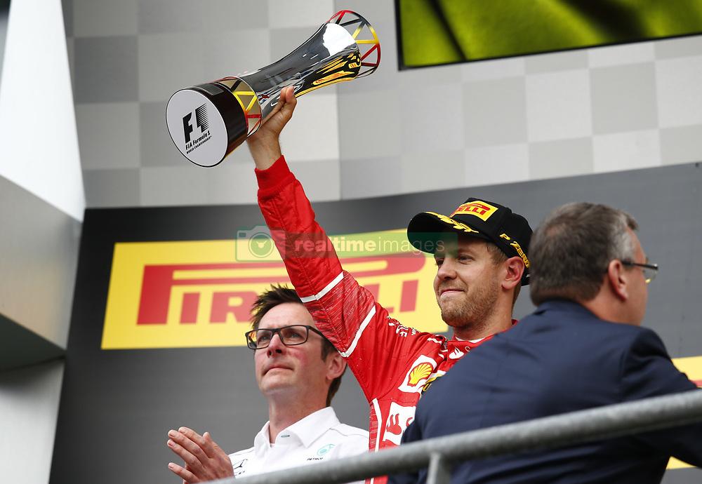 August 27, 2017 - Spa-Francorchamps, Belgium - Motorsports: FIA Formula One World Championship 2017, Grand Prix of Belgium, ..#5 Sebastian Vettel (GER, Scuderia Ferrari) (Credit Image: © Hoch Zwei via ZUMA Wire)