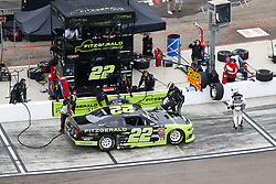 March 10, 2018 - Avondale, Arizona, United States of America - March 10, 2018 - Avondale, Arizona, USA: Brad Keselowski (22) brings his car down pit road for service during the DC Solar 200 at ISM Raceway in Avondale, Arizona. (Credit Image: © Chris Owens Asp Inc/ASP via ZUMA Wire)