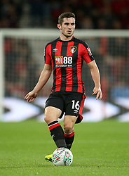 """AFC Bournemouth Lewis Cook during the Carabao Cup, third round match at the Vitality Stadium, Bournemouth. PRESS ASSOCIATION Photo. Picture date: Tuesday September 19, 2017. See PA story SOCCER Bournemouth. Photo credit should read: Steven Paston/PA Wire. RESTRICTIONS: EDITORIAL USE ONLY No use with unauthorised audio, video, data, fixture lists, club/league logos or """"live"""" services. Online in-match use limited to 75 images, no video emulation. No use in betting, games or single club/league/player publications."""