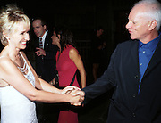 Tina Brown and Malcolm Mcdowell. Talk magazine launch. New York. 2 September 1999.<br />