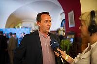 DEU, Deutschland, Germany, Berlin, 18.09.2016: Karsten Woldeit, künftiger AfD-Abgeordneter, bei der Wahlparty der Partei Alternative für Deutschland (AfD) im Ratskeller Charlottenburg. Mit einem Wahlergebnis von 14 Prozent wird die AfD erstmals in das Berliner Abgeordnetenhaus einziehen.