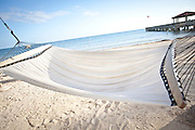 A hammock along the beach in Key West, Florida