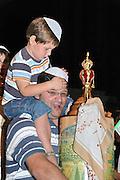 Israel, Jordan Valley, Kibbutz Ashdot Yaacov, Simchas Torah celebration