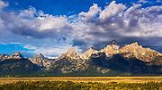 Clearing storm over the Teton Range, Grand Teton National Park, Wyoming USA