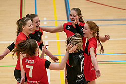 VCN celebrate during the first league match between Laudame Financials VCN vs. Apollo 8 on February 06, 2021 in Capelle aan de IJssel.