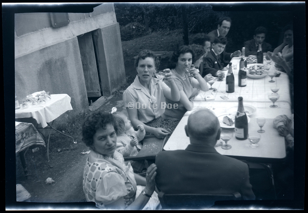 rural wedding party France ca 1950s