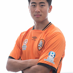 BRISBANE, AUSTRALIA - MARCH 17: Nathan Yoon poses for a photo during the Brisbane Roar Youth headshot session at QUT Kelvin Grove on March 17, 2017 in Brisbane, Australia. (Photo by Patrick Kearney/Brisbane Roar)
