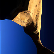 Top span of Metate Arch in Devil's Garden, Grand Staircase  Escalante National Monument, Utah.