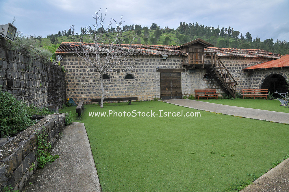 Israel, Upper Galilee, The Tel Hai Courtyard historic landmark founded 1920