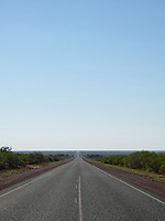 Long straight road in Western Australia