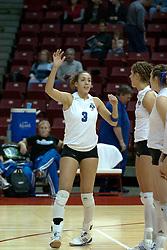 20 November 2004....Eve Johnson....Illinois State University Redbirds V Drake Bulldogs Women's Volleyball.  Redbird Arena, Illinois State University, Normal IL