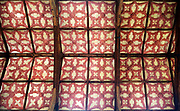 Interior of the priory church at Edington, Wiltshire, England, UK - 17th century plaster ceiling
