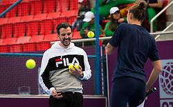 February 11, 2019 - Doha, Spain - Team Pliskova during practice ahead of the 2019 Qatar Total Open WTA Premier tennis tournament (Credit Image: © AFP7 via ZUMA Wire)