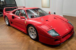© Licensed to London News Pictures. 12/08/2016. London, UK. A 1990 Ferrari F40, named in celebration of the company's 40th birthday (est. GBP 885,000 - 1,1,00,000) is seen at the photocall for classic cars at Sotheby's, New Bond Street, ahead of their auction on 7 September in Battersea Park. Photo credit : Stephen Chung/LNP