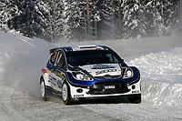 MOTORSPORT - WRC 2010 - RALLY SWEDEN - KARLSTAD (SWE) - 11 to 14/02/2010 - PHOTO : ALEXANDRE GUILLAUMOT / DPPI<br /> ANDREAS MIKKELSEN (NOR) / OLA FLOENE (NOR) - FORD FIESTA S2000 - ACTION