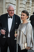NICOLAS LIJINE; INNA BAZHENOVA, Professor Mikhail Piotrovsky Director of the State Hermitage Museum, St. Petersburg and <br /> Inna Bazhenova Founder of In Artibus and the new owner of the Art Newspaper worldwide<br /> host THE HERMITAGE FOUNDATION GALA BANQUET<br /> GALA DINNER <br /> Spencer House, St. James's Place, London<br /> 15 April 2015