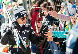 Simon Ammann (SUI) with fans during the Trial Round of the Ski Flying Hill Individual Competition at Day 1 of FIS Ski Jumping World Cup Final 2019, on March 21, 2019 in Planica, Slovenia. Photo by Vid Ponikvar / Sportida