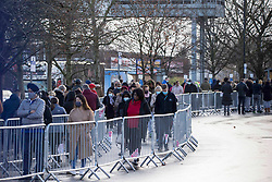 © Licensed to London News Pictures.14/12/2020. London, UK. Shoppers stand in queue at Costco Chingford, north London. As supermarkets have been warned to stockpile food ahead of a possible no-deal Brexit. Photo credit: Marcin Nowak/LNP