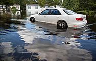 Flooded car in Bucksport, South Carolina following Hurricane, Florence.