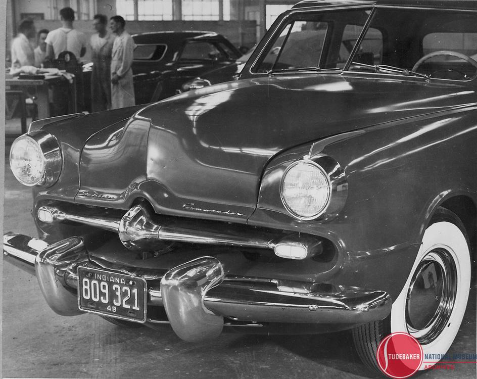 Full-size clay model of design proposal for Studebaker's 1950 Commander line.