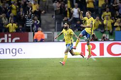 June 9, 2017 - Stockholm, Sweden - 21 Jimmy Durmaz #6 Ludwig Augustinsson..UEFA European Qualifiers Sweden - France 2-1, Friends Arena, Solna, Stockholm, Sweden 2017-06-09 (Credit Image: © Aftonbladet/IBL via ZUMA Wire)
