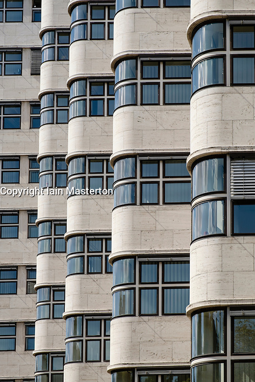 Detail of Shell Haus modernist architecture in Berlin Germany