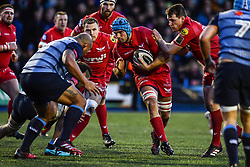 Scarlets' Tadhg Beirne in action - Mandatory by-line: Craig Thomas/Replay images - 31/12/2017 - RUGBY - Cardiff Arms Park - Cardiff , Wales - Blues v Scarlets - Guinness Pro 14