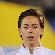 Meghan Klingenberg, USA, during team National Anthems before the USA Vs Colombia, Women's International friendly football match at the Pratt & Whitney Stadium, East Hartford, Connecticut, USA. 6th April 2016. Photo Tim Clayton