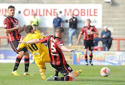 Matty Taylor of Bristol Rovers makes it 3-1- Mandatory byline: Neil Brookman/JMP - 07966 386802 - 03/10/2015 - FOOTBALL - Globe Arena - Morecambe, England - Morecambe FC v Bristol Rovers - Sky Bet League Two