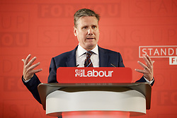 April 25, 2017 - London, London, UK - London, UK. KEIR STARMER, Shadow Secretary of State for Exiting the European Union outlines Labour's plans for Brexit at One Great George Street in Westminster, London on Tuesday 25 April 2017. (Credit Image: © Tolga Akmen/London News Pictures via ZUMA Wire)