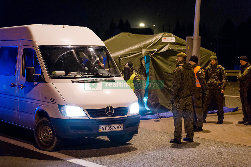 Border between Poland and Czech Republic closed due to coronavirus pandemic, in Chalupki, Poland, on March 15, 2020. Photo by Jakub Morkowski / Edytor.net / Newspix/ABACAPRESS.COM