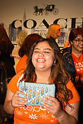 Step Up student Carla Hernandez at Coach atmosphere booth
