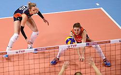 09-01-2016 TUR: European Olympic Qualification Tournament Rusland - Nederland, Ankara<br /> De strijd om Rio of Japan / Debby Stam-Pilon #16, Anne Buijs #11