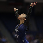 Erin Macadaeg, Redwood City, California, in action during the Floor Exercise during the Senior Women Competition at The 2013 P&G Gymnastics Championships, USA Gymnastics' National Championships at the XL, Centre, Hartford, Connecticut, USA. 15th August 2013. Photo Tim Clayton