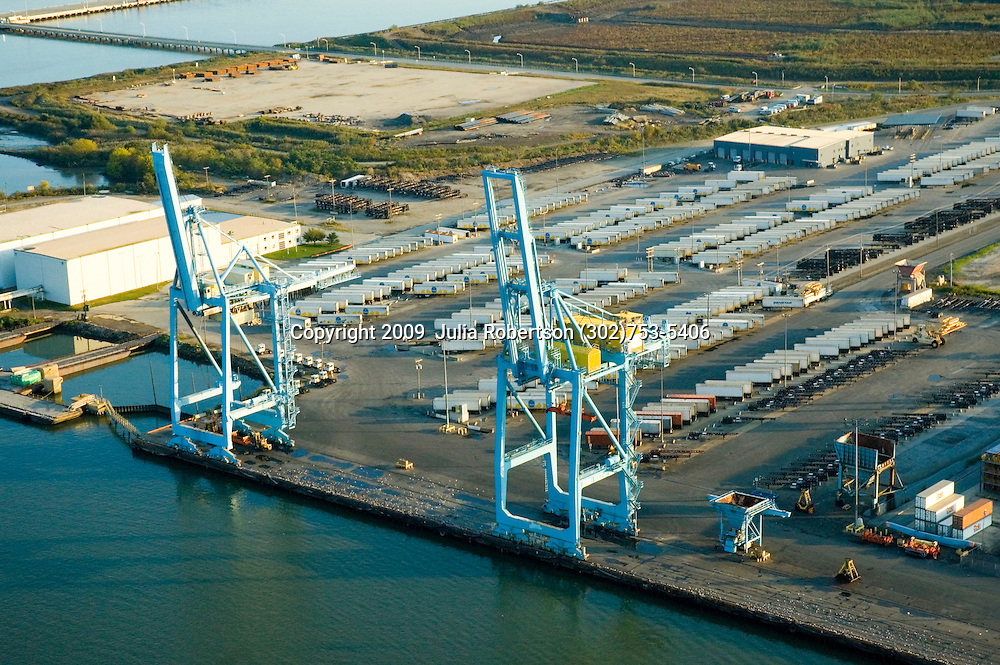 Aerial views of the Port of Wilmington Delaware
