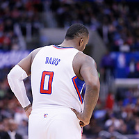 24 March 2014: Los Angeles Clippers forward Glen Davis (0) rests during the Los Angeles Clippers 106-98 victory over the Milwaukee Bucks at the Staples Center, Los Angeles, California, USA.
