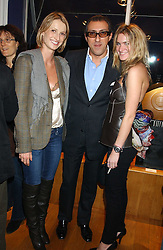 Left to right, DITA VANKOVA, BROOSK SAIB and EMILY LOBEL at a private view sculptures, drawings and Maquettes by Aly Brown held at Lucy B Campbell Fine Art, 123 Kensington Church Street, London W8 on 22nd November 2005.<br />