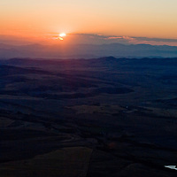 The sun sets over Montana's Tobacco Root Mountains.