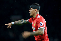 10 December 2017 -  Premier League - Manchester United v Manchester City - Marcos Rojo of Manchester United with his head bandaged - Photo: Marc Atkins/Offside