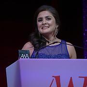 London, UK. 10th May 2017. Professions awards to Vidisha Joshi at The Asian Women of Achievement Awards 2017 at the London Hilton on Park Lane Hotel. Photo by See li