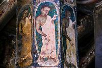 Inde, état de Maharashtra, Ajanta, grottes d'Ajanta classées au Patrimoine mondial de l'UNESCO, grotte N°10 // India, Maharashtra, Ajanta cave temple, Unesco World Heritage, cave N°10