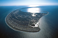 Massachusetts. Aerial view of Cape Cod National Seashore and Atlantic Ocean, locations where pilgrims first landed in 1620
