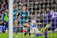 Beram Kayal (Brighton) looks at the ball following his attempt at goal during the FA Cup fourth round match between Brighton and Hove Albion and West Bromwich Albion at the American Express Community Stadium, Brighton and Hove, England on 26 January 2019.