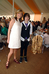 Actress SHARON MAUGHAN and her son GEORGE EVE at the final of the Veuve Clicquot Gold Cup 2007 at Cowdray Park, West Sussex on 22nd July 2007.<br /><br />NON EXCLUSIVE - WORLD RIGHTS