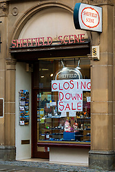 Sheffield Scene as retail shop specialising in Sheffield gifts and memorabilia holds a closing down sale as the third UK wide COVID 19 lockdown comes into force<br /> <br /> 05 January 2020<br /> <br /> www.pauldaviddrabble.co.uk<br /> All Images Copyright Paul David Drabble - <br /> All rights Reserved - <br /> Moral Rights Asserted -