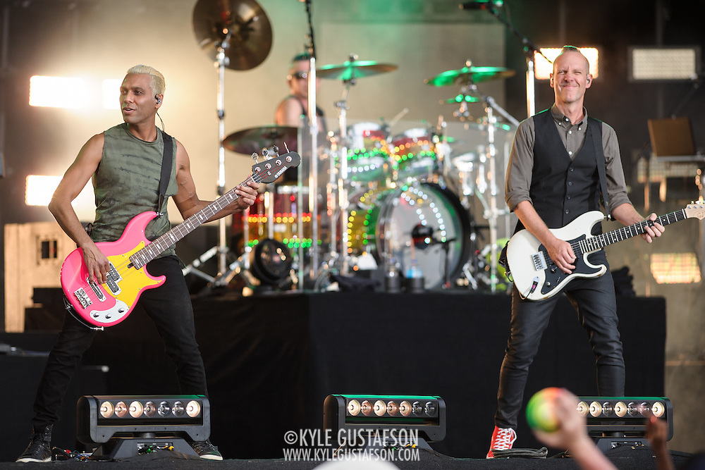 WASHINGTON, D.C. - April 18th, 2015 - Tom Dumont, Adrian Young and Tony Kanal of No Doubt performs at the Global Citizen 2015 Earth Day concert on the National Mall in Washington, D.C. (Photo by Kyle Gustafson / For The Washington Post)