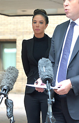 Former X Factor judge Tulisa Contostavlos' legal team make a statement to press after she leaves Southwark Crown Court in connection with a class-a drugs charge.<br /> Tuesday, 22nd April 2014. Picture by Ben Stevens / i-Images
